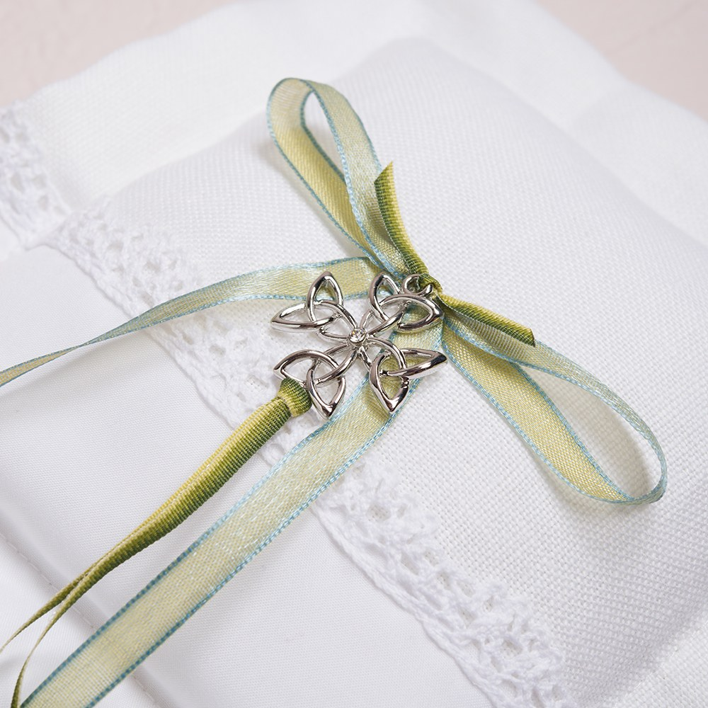 Celtic Charm Square Wedding Ceremony Ring Pillow