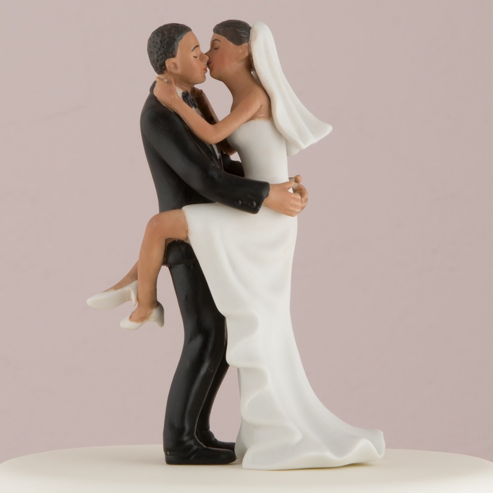 Kissing Couple Wedding Cake Topper