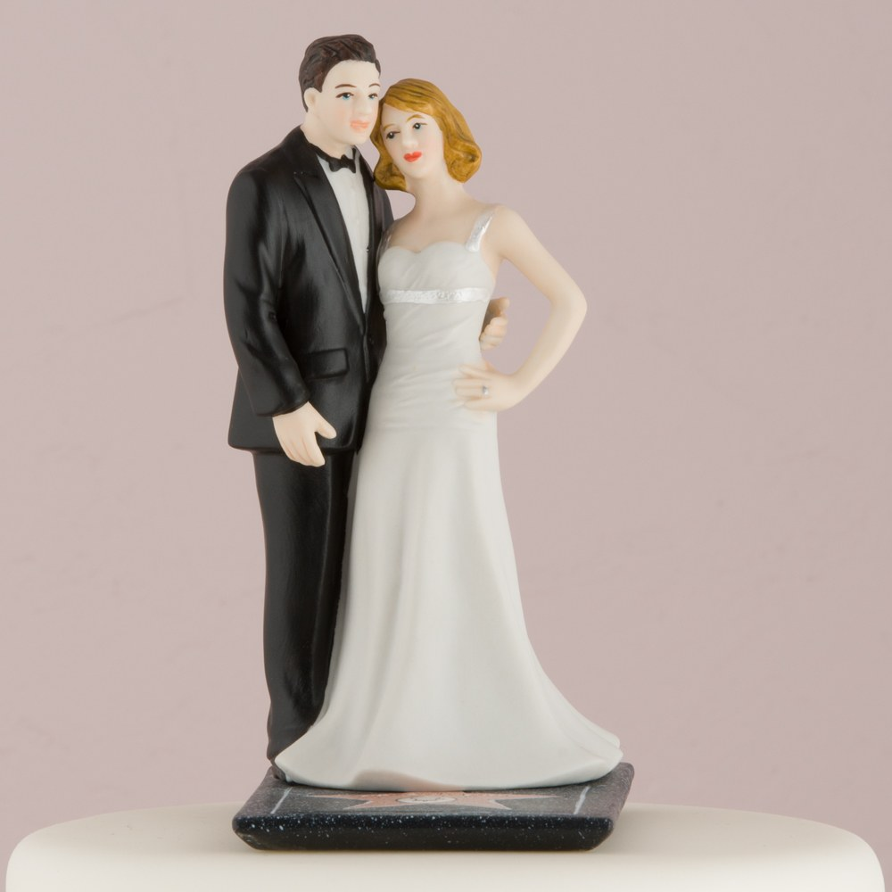 Hollywood Couple Wedding Cake Topper