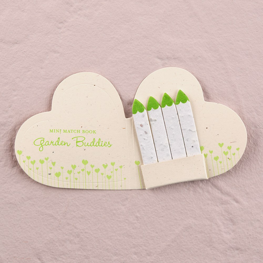 garden buddies wedding favor matchbook