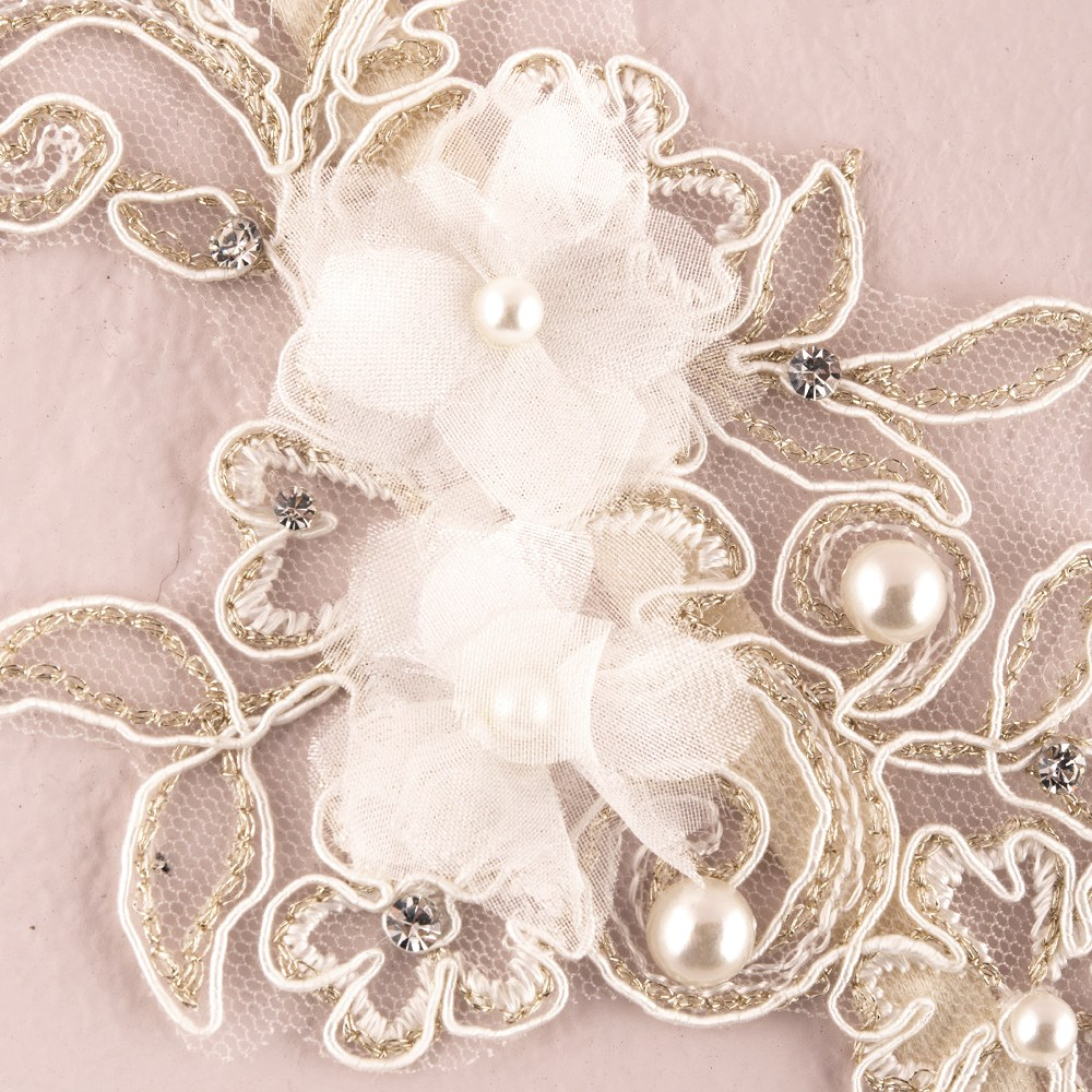 High Style Appliqué Bridal Sash/Garter