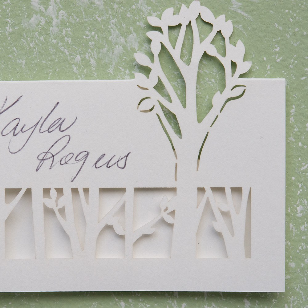 Woodland Pretty Laser Embossed Place Cards