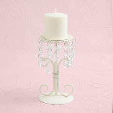 Cream & Crystal Candelabra