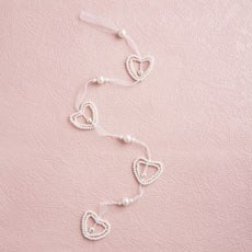 Small Pearl  Heart Hanging Decoration Garland