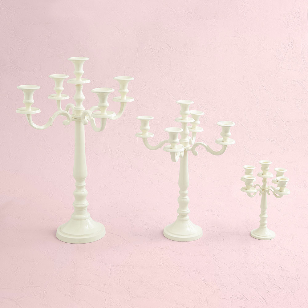 Ivory 5 Arm Large Wedding Candelabra