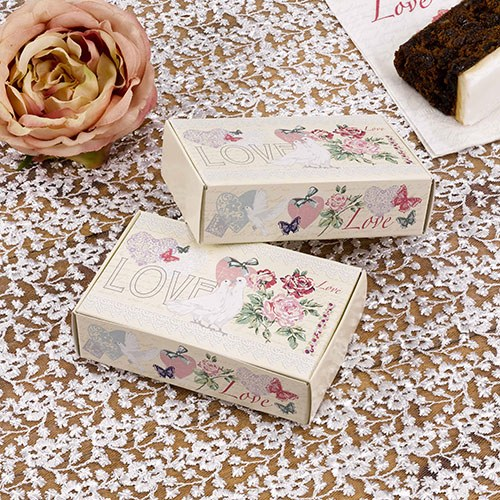 Classic Romance Design Wedding Cake Box