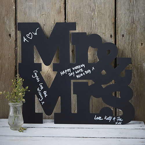 Mr & Mrs Chalkboard Guest Book