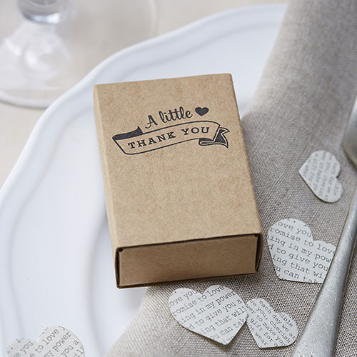 Kraft Vintage Matchbox Favors - 10 Pack
