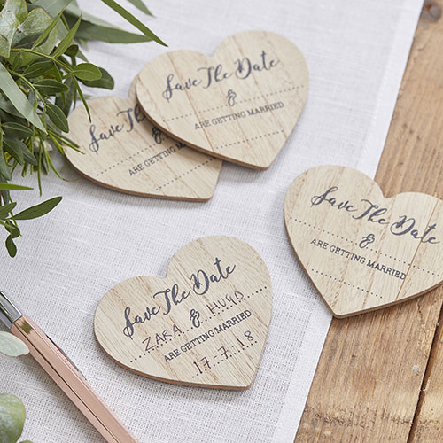 Save The Date Wooden Magnets - 10 Pack