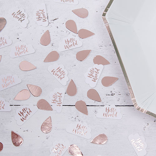 Hello World Rose Gold & Clouds Confetti - 14g