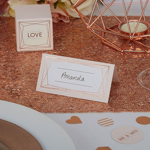 Geo Blush Place Cards - 25 Pack