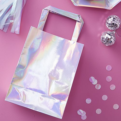 Iridescent Party Bags - 5 Pack