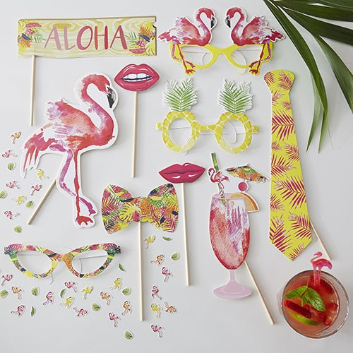 Flamingo Fun Party Booth Props
