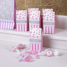 Retro Candy Stripe and Floral Boxed Paper Throwing Confetti