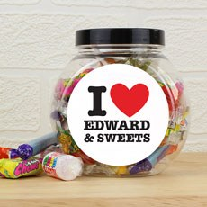 Personalized I Heart Sweet Jar