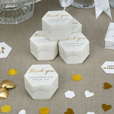 Scripted Marble Favor Boxes - 10 Pack