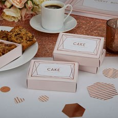 Geo Blush Cake Boxes - 10 Pack