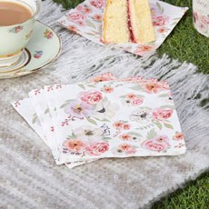 Time For Tea Party Napkins - 16 Pack