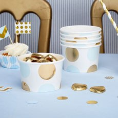 Blue & Gold Polka Dot Sweetie Tubs