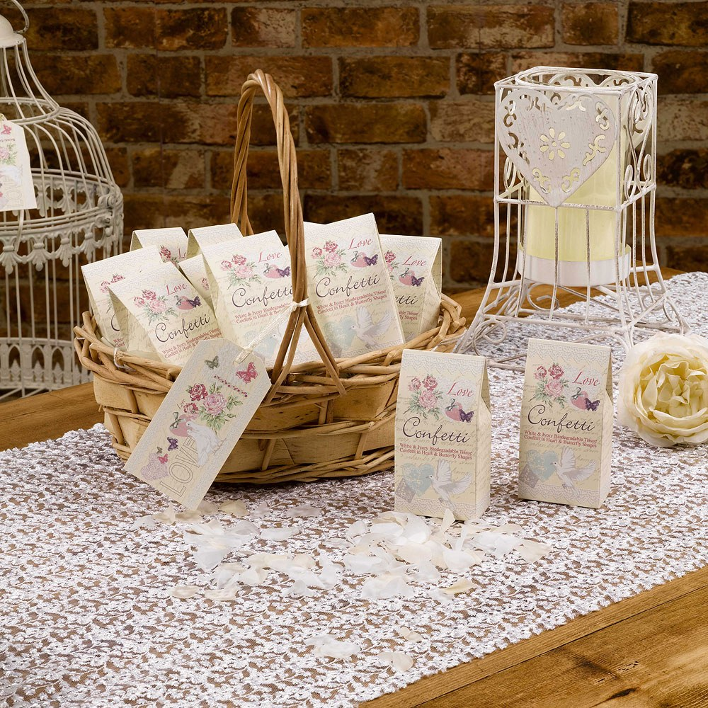 Ivory and White Biodegradable Tissue Throwing Confetti
