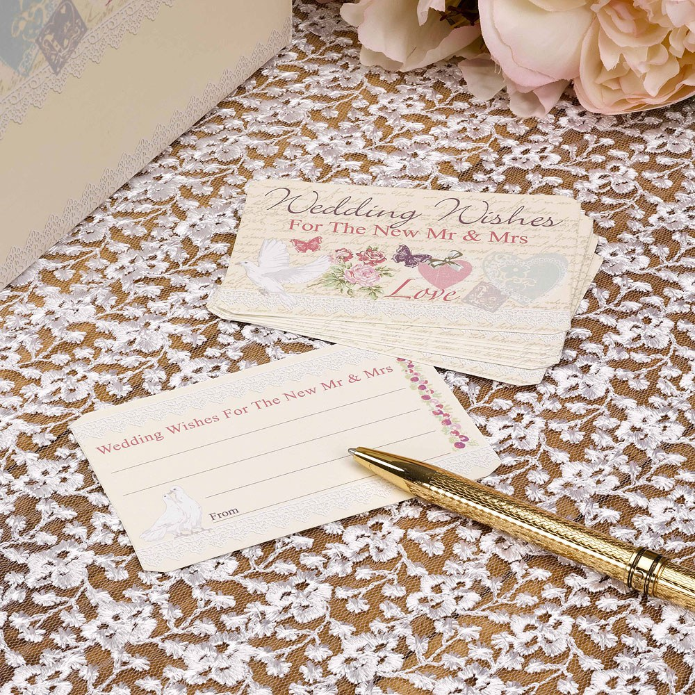 """""""with love"""" classic white doves design wedding wishes"""