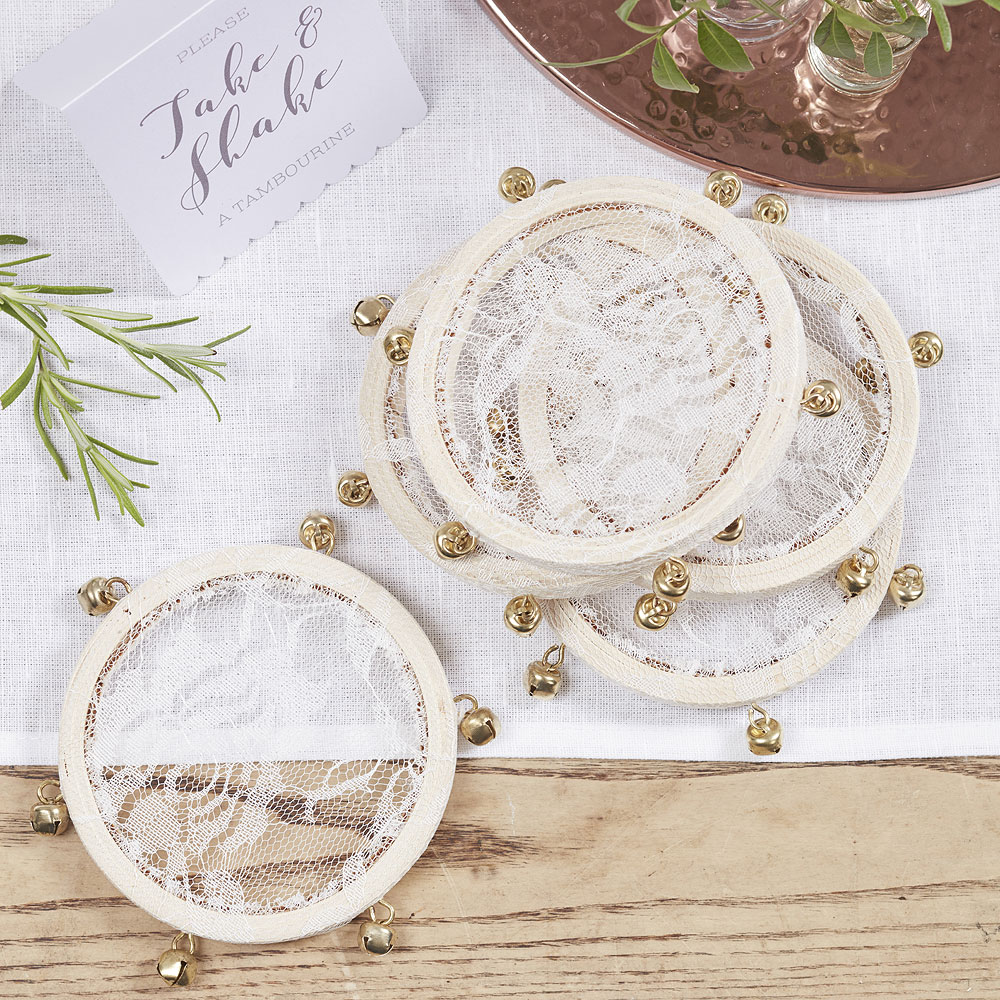 Mini Tambourines Beautiful Botanics - 5 Pack