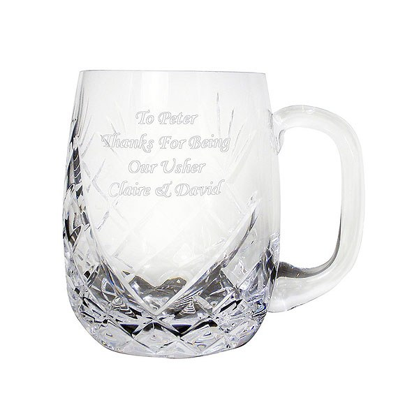 Personalized Crystal Round Tankard