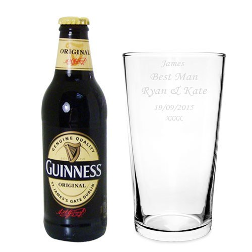 Guinness Gift Set With Personalized Glass