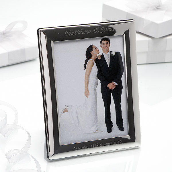 Personalized Silver Plated Photo Frame Small