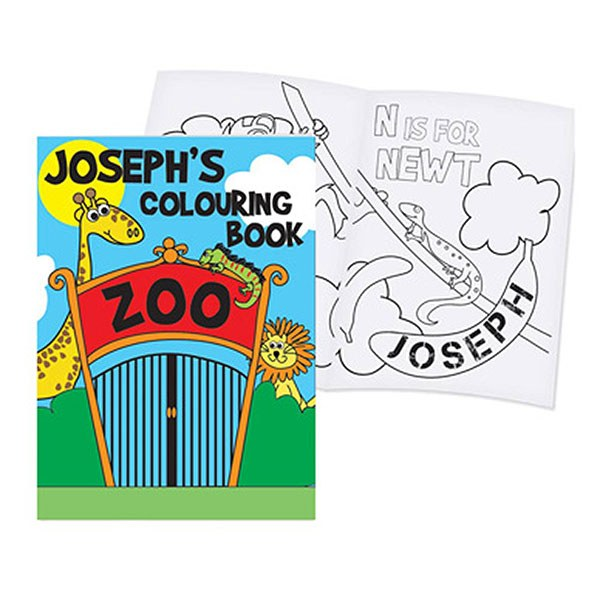 Personalized Zoo Colouring Book