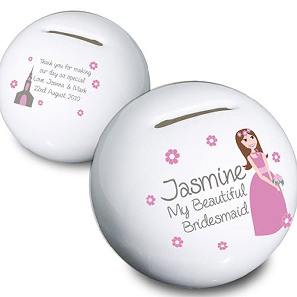 Personalized Fabulous Bridesmaid Money Box