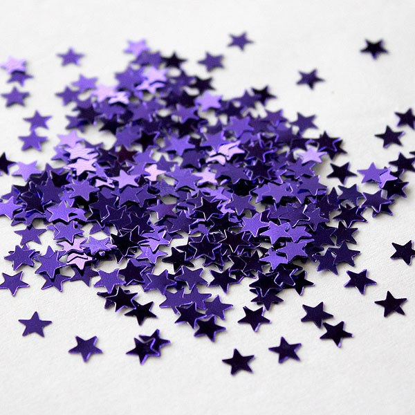 Mini Metallic Star Shaped Confetti Pack