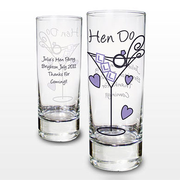 Personalized Hen Shot Glass
