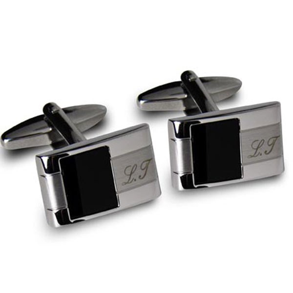 Personalized Onyx Cufflinks