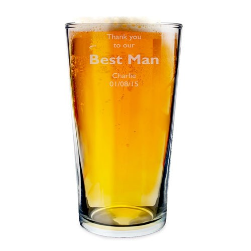 Personalized Best Man Pilsner Glass