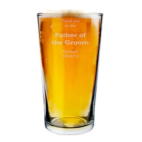 Personalized Father Of The Groom Beer Glass