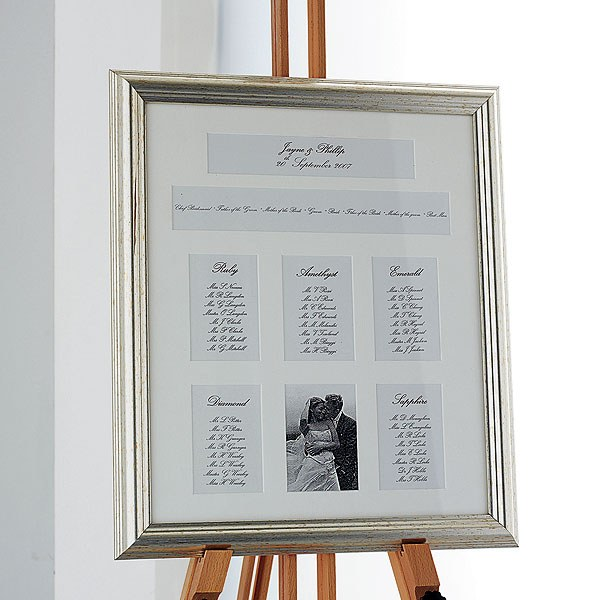 Metallic Framed Table Plan 6 Apertures