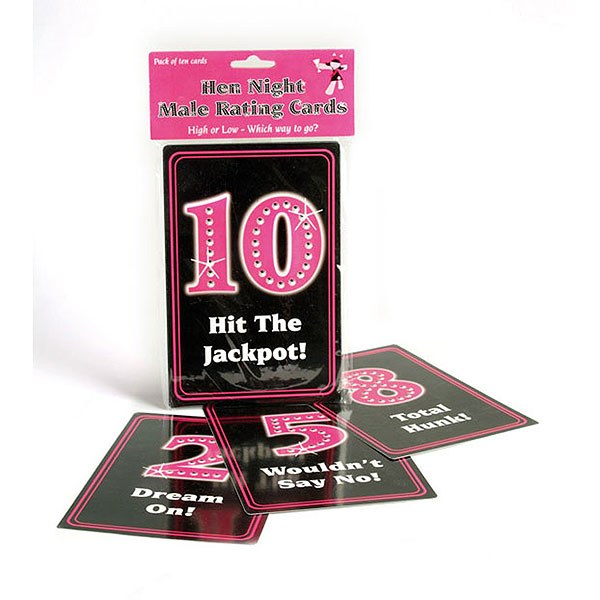 Hen Night Male Rating Cards