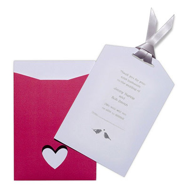 Eco Chic Hearts and Love Birds RSVP