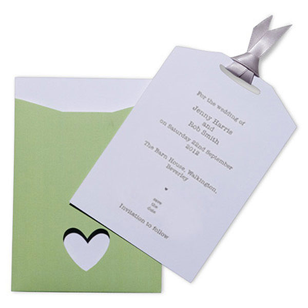 Eco Chic Hearts and Your Initials Save the Date