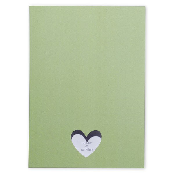 Eco Chic Hearts and Your Initials Order of Service