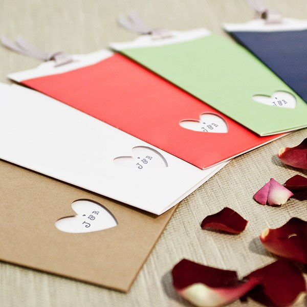 Eco Chic Hearts and Your Initials Evening Invitation