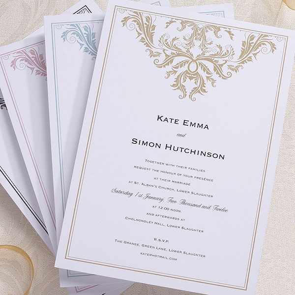 Baroque Invitation Confetticouk