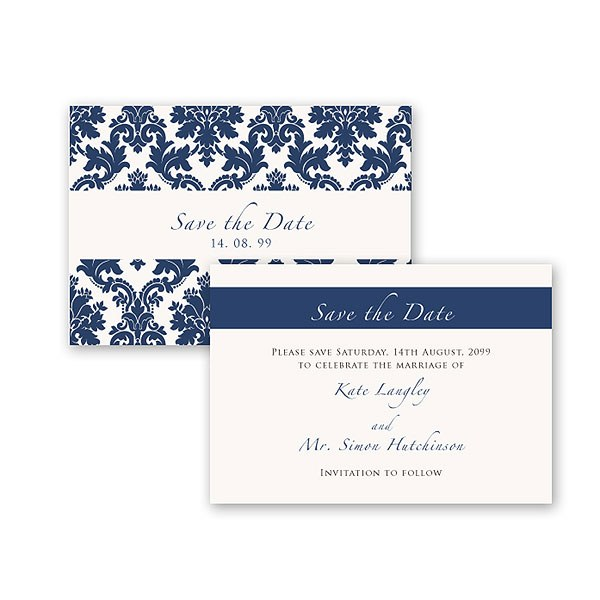 Damask Classic Pearl Gatefold Stationery Collection Save the Date