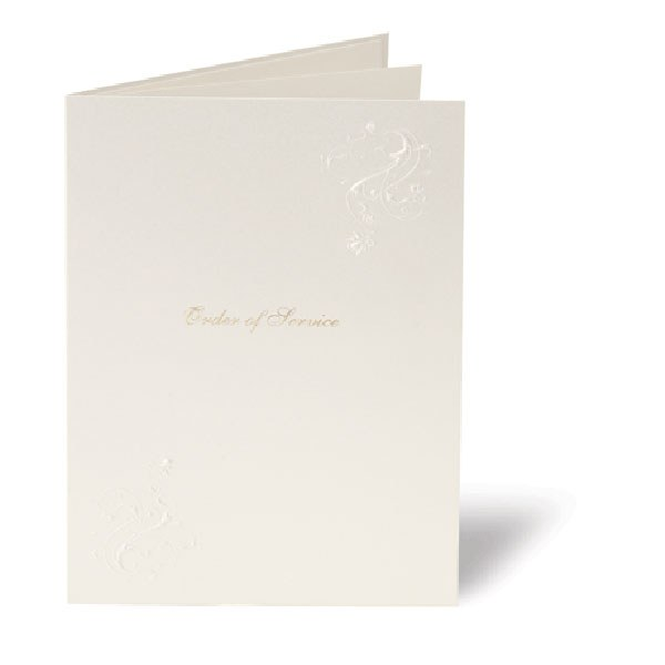 Elegance Embossed Wedding Stationery Order of Service