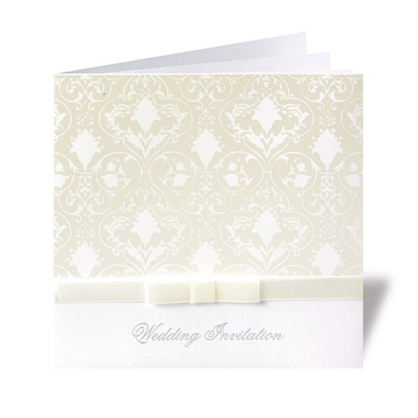 Essence Ribbon And Bow Folded Wedding Stationery Range Invitation