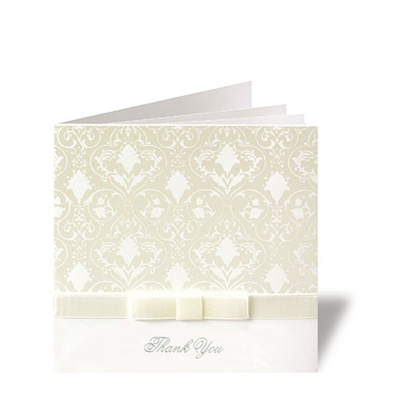 Essence Ribbon And Bow Folded Wedding Stationery Range RSVP