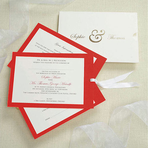 Evermore Personalized Wedding Wallet With Contrasting Inserts Invitation