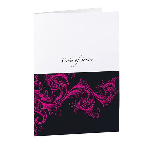 Filigree Scroll Z Fold Pearl Range Order of Service