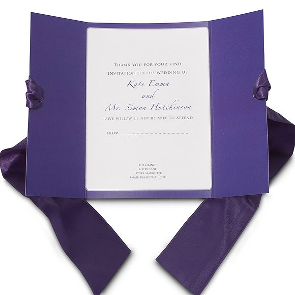 Mayfair Ribboned Stationery Invitation